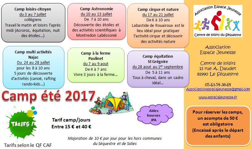 camp été 2017