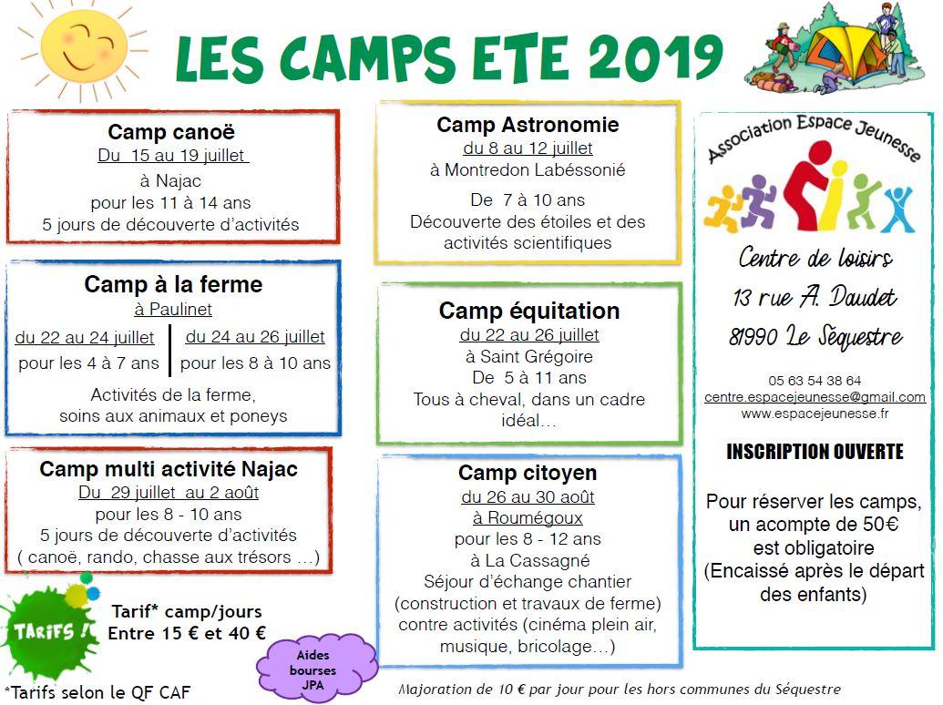 camp été 2019