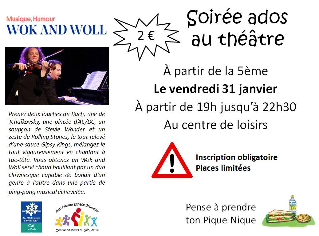 soirée ados au théâtre 31-01-2020